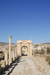 North Gate in Jerash, Jordan