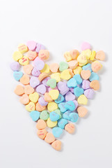 Valentine's day  candies and letters