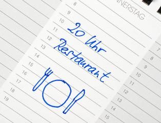 Essen im Restaurant - Termin Kalender