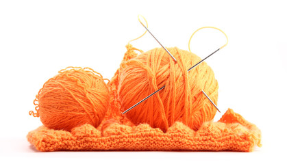 Knitting. Knitted. Isolated