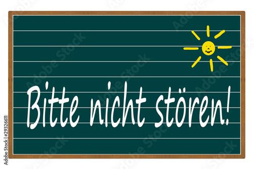 bitte nicht st ren stockfotos und lizenzfreie bilder auf bild 29326611. Black Bedroom Furniture Sets. Home Design Ideas