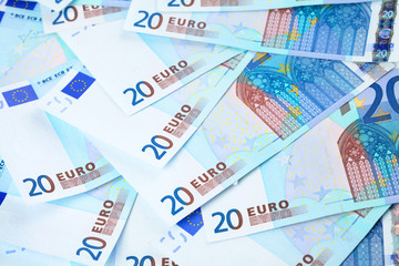 Few banknotes of 20 euro