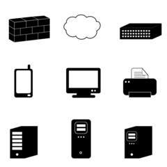 Computer and network icons