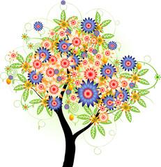 Сказочное цветущее дерево
