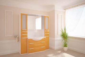 white bathroom concept