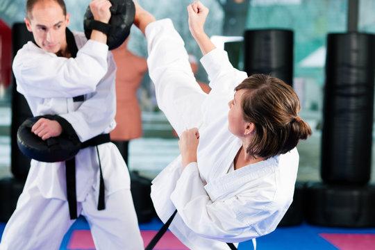 Martial Arts sport training in gym