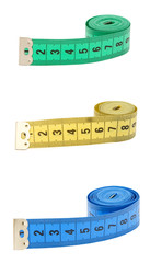 Measuring tape isolated over white background