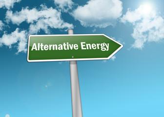 "Signpost ""Alternative Energy"""