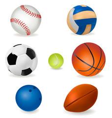 Set of sport balls. Vector.