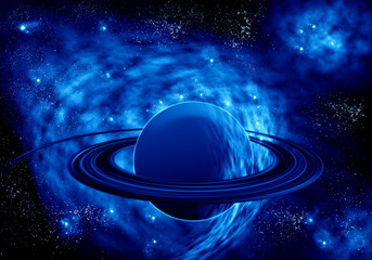Abstract planet and star background