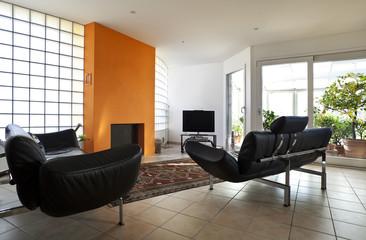 interno di salotto ammobiliato moderno