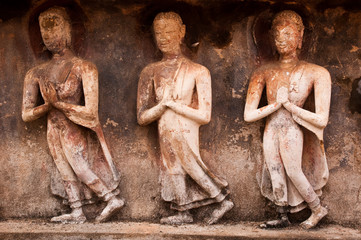 Buddha images in Sukhothai Historical Park, former capital city