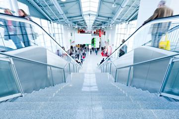 large trade fair hall