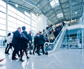 business people using a staircase