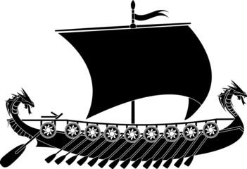 drakkar viking. stencil