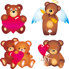 Fotobehang Beren Bears. Vector collection