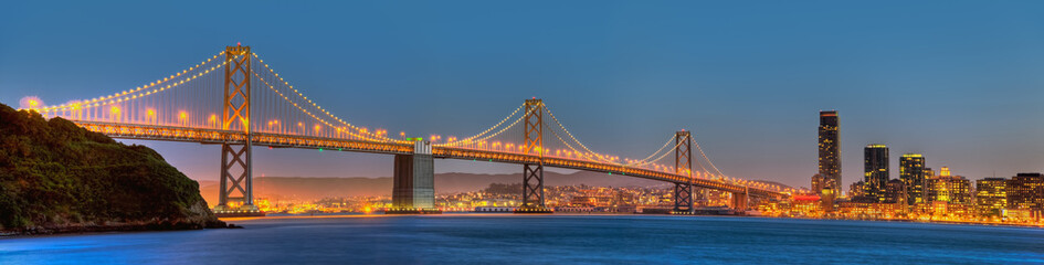 Photo sur Plexiglas San Francisco San Francisco Bay Bridge Panorama