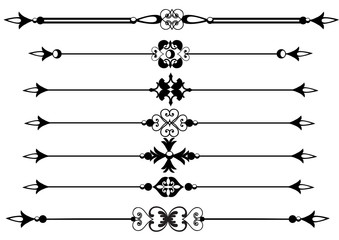 Ornamental rule or rule lines