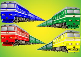 Multi-colored train