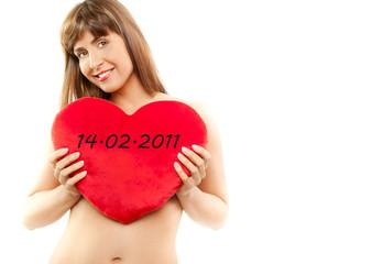 14.02.2011 Valentinsherz Frau