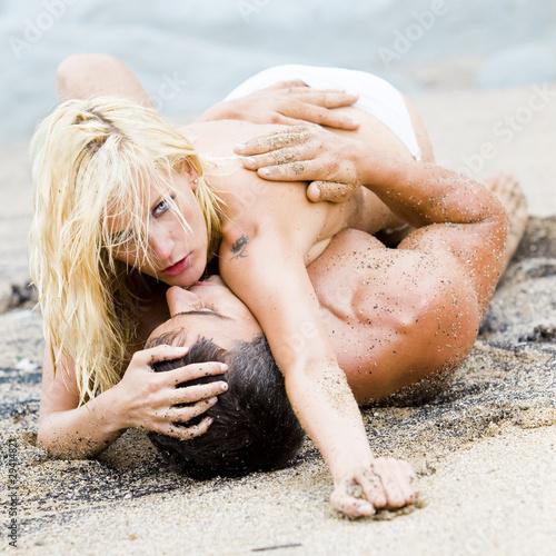 Sexual photos at beach