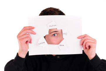 Blick durchs Papierloch