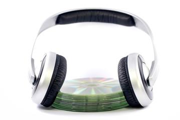 casque audio et cd