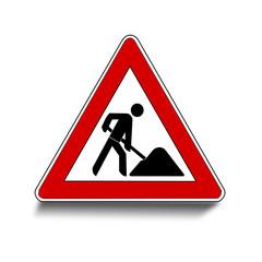 Baustelle Schild