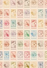 Floral stamps background