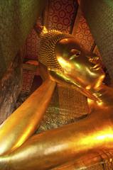 Big Golden Reclining Buddha Image in Wat Pho
