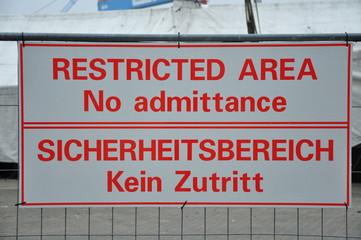 Sicherheitsbereich Hafen