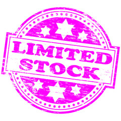 """Rubber stamp illustration showing """"LIMITED STOCK"""" text"""