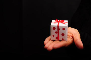 gift box on hand