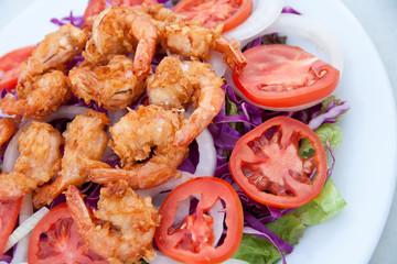 Fried Shrimp Salad