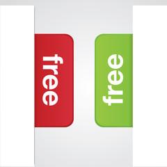 Free Modern Vector Tabs