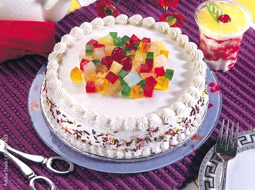 Украшение на торт из мармелада