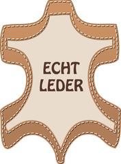 Zeichen ECHT LEDER