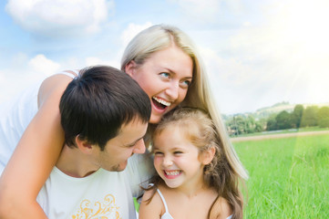 Fototapeta rodzina na wacacjach obraz