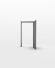 Door in white space