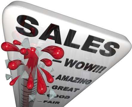 Sales - Thermometer Rising Past Great Levels