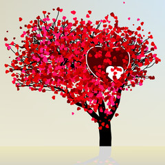 Valentine tree beautiful design template. EPS 8