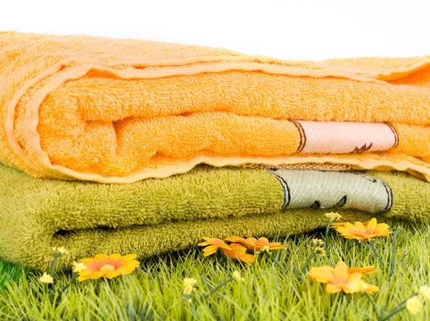 serviettes de toilette fraiches