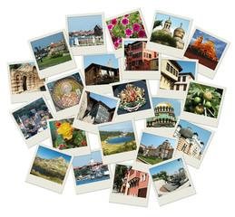 Go Bulgaria - background with travel photos of famous landmarks