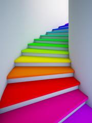 Fototapeta Spiral colorful stair to the future. obraz