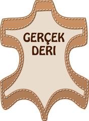 Zeichen ECHT LEDER türkisch