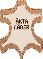 Zeichen ECHT LEDER schwedisch