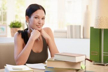 Portrait of university girl