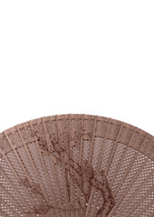 Wood chinese fan, isolated on white background