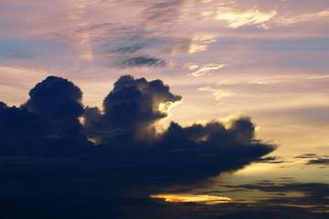 Sunset. Borneo.