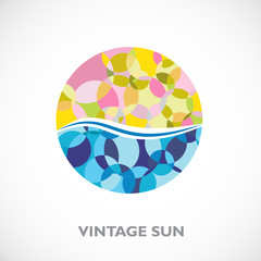 Vintage Logo Seaside # Vector